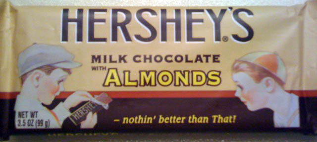 old-fashioned Hershey's bar wrapper