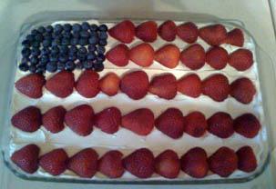 flag cake!