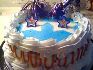 Dairy Queen Fourth of July ice cream cake