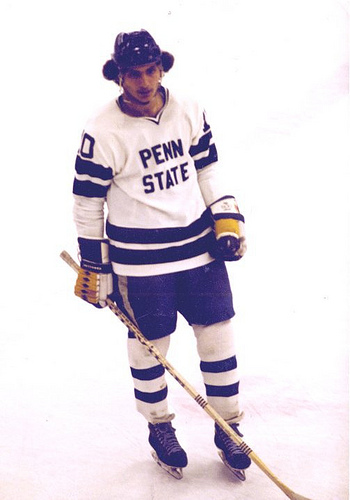 Joe Battista during his college hockey years