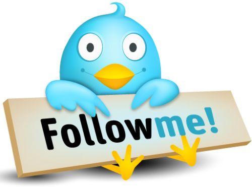 Twitter, follow me